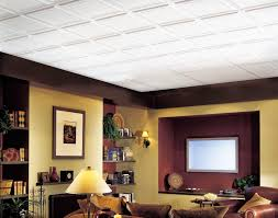 Black Drop Ceiling Tiles 2x2 by Basement Ceilings Then And Now The Interior Frugalista