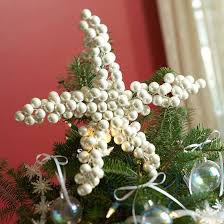 DIY Easy Christmas Tree Topper Ideas A Star Of Pearls