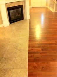 Laminate Floor Transitions To Tiles by Longer Picture Of Tile To Hardwood Transition Columbia Missouri