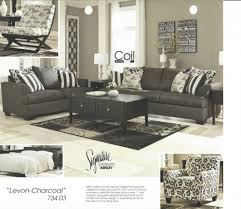Ashley Levon Charcoal Sofa Sleeper by Levon Charcoal Group 73403 Living Room Groups Furniture