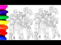 Coloring Pages BARBIE Princess Chelsea Book Videos For Kids Learning Colors