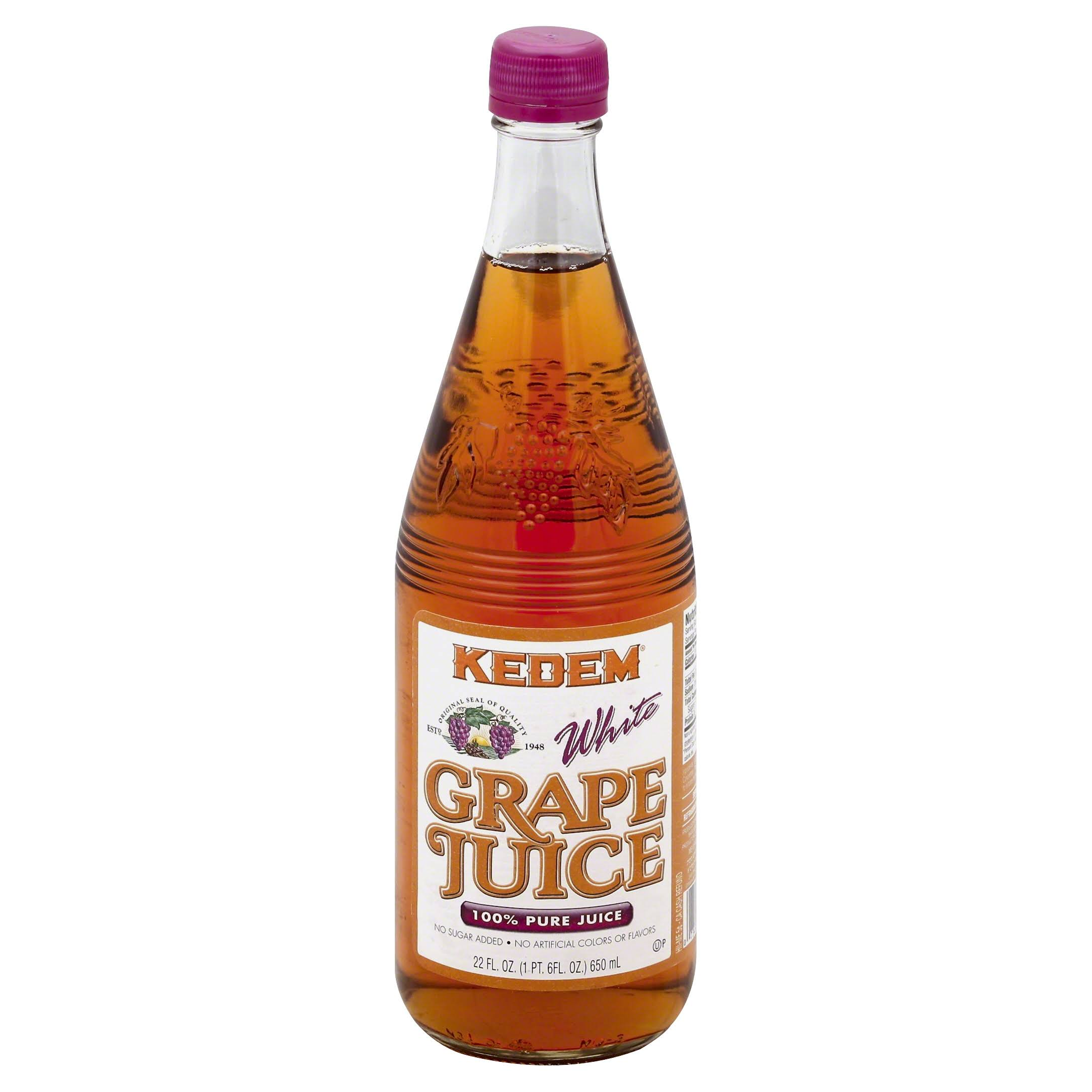 Kedem White Pure Juice - Grape, 22oz