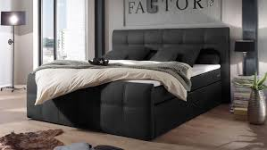 boxspringbett sacramento schlafzimmer in schwarz 180x200
