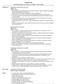 Quantitative Analyst Resume Samples