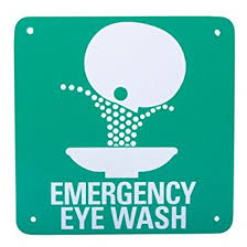 eye wash symbol safety sign 7 x 7 plastic industrial warning