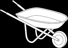 Wheelbarrow Coloring Page