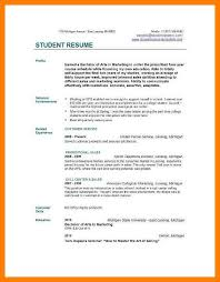 7 Resume Sample College Student