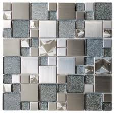 Light Blue Glass Subway Tile Backsplash by Accent Glossy Surfaces Mosaic Accent Bathroom Tiles Modern