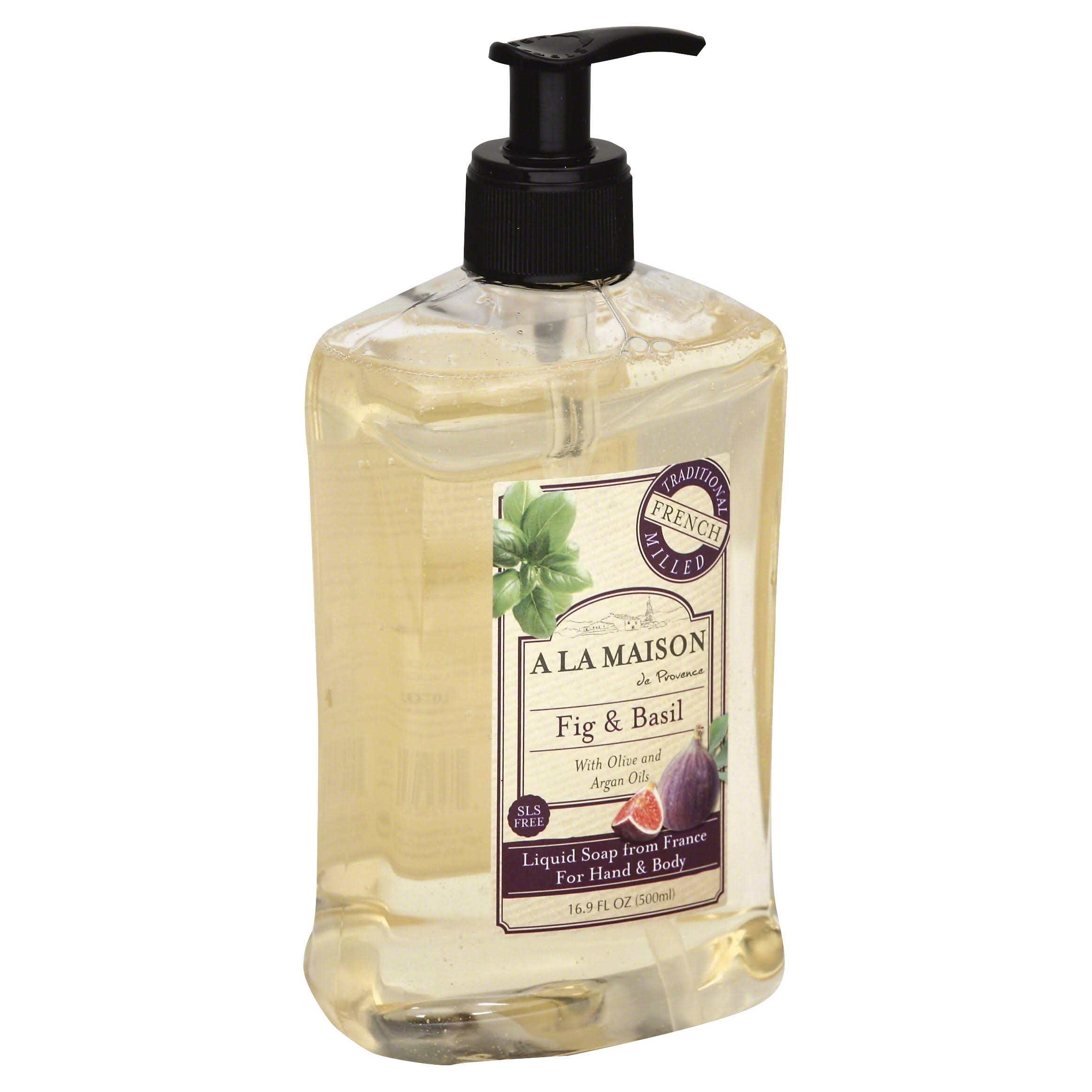 A La Maison French Liquid Soap - Fig and Basil, 16oz
