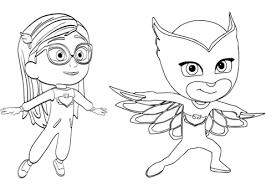 Pajama Hero Amaya Is Owlette From PJ Masks Coloring Page