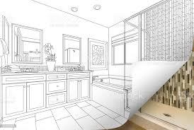 masterbadezimmer zeichnen seitenecke spiegeln mit foto hinter stockfoto und mehr bilder badewanne