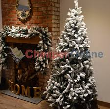 Christmas Tree Flocking Spray Uk by 6ft 7ft Or 8ft Premier Snow Valley Fir Deluxe Snow Flocked
