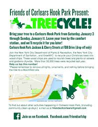 Christmas Tree Disposal New York City by Treecycle Your Xmas Tree At Corlears Hook Through January 11