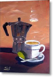 Cuban Coffee And Lime Tan Left Metal Print