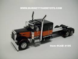 Item #CAB 4195 Black Orange Peterbilt 379 63