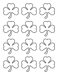 Small Shamrock Pattern Use The Printable Outline For Crafts Creating Stencils Scrapbooking