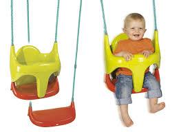 balancoire siege siège balançoire pour bébé 2 en 1 smoby jardideco
