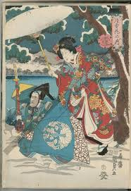 Utagawa Kunisada II TitleSnow Date1852 Japanese DatingJapanese ArtworkJapanese PrintsWoodblock