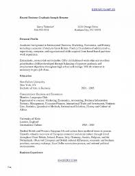 Resume Template College Student Best Of Recent Graduate Sample New