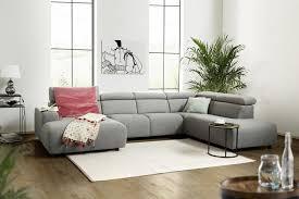 kawola sofa riso wohnlandschaft u form stoff grau longchair wählbar kaufen otto