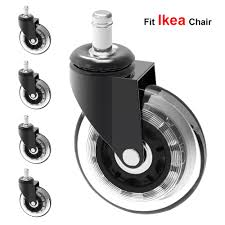 Buy MySit 5x Replacement Casters For IKEA Office Chairs, 3
