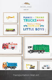 100 Fire Truck Wall Art Garbage Print Transportation Toddler Boy Bedroom