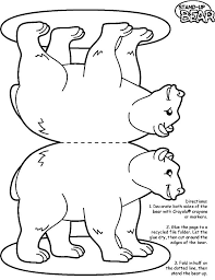 Easy Bear Printable Add A Little Coconut Or Cotton Balls And You Have