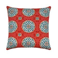 Johara Watermelon Outdoor Bohemian Medallion Pillow