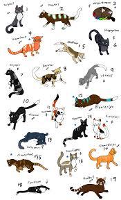 warrior cat names warrior names warrior cat warrior cats names list
