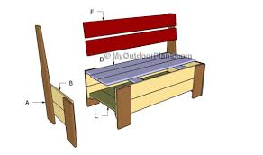 how to build a bench with storage myoutdoorplans free