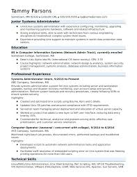 Network Administrator Resume Objective Example Entry Level Examples With Samples