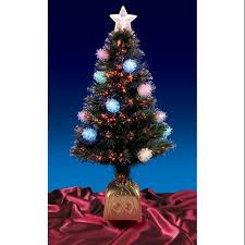 Get Quotations 3 Pre Lit LED Fiber Optic Pine Cone Artificial Christmas Tree