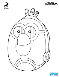 White Is A Droid Built In The Image Of Matilda For Angry Birds Star Wars Find This Pin And More On Video Games Coloring Pages