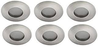 led badezimmer einbauleuchten set 6x5w ip44 84mm gebürstet bad einbaustrahler aluminium druckguss feuchtraum smd