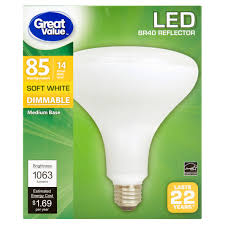 great value led dimmable br40 reflector e26 light bulb 14w 85w