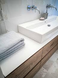 echtholz möbel mit glas i im bad badezimmer