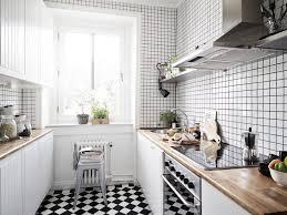 black and white tiles for kitchen decorating design ideas