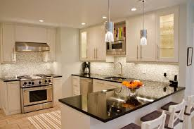 Full Image Kitchen Antique White Cabinet L Shaped Designs Gloss Island With Granite Top Galleries Of