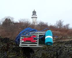 Mini Decorative Lobster Trap by Trappedinmaine