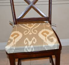 IKAT Gray Fabric Seat Cushion Cover Kitchen Chair Pad Cover ...