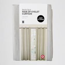 Faux Silk Eyelet Curtains by Faux Silk Pair Of Eyelet Curtains Taupe Target Australia