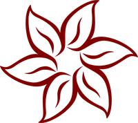 Maroon Flower Clip Art