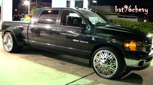 Dodge Ram 3500 Dually Truck Lowered On 26