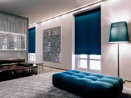 Teal Living Room Decor by Aventura Roman Shades Archives The Shade Store