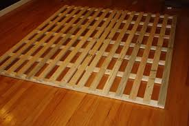 how to make a cheap low profile wooden bed frame 4 steps with