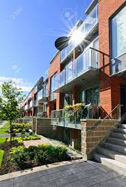 100 Glass Modern Houses Town Houses Of Brick And Glass On Urban Street