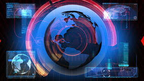 Global News Media Technology Graphic Animation Background Part Of A Series