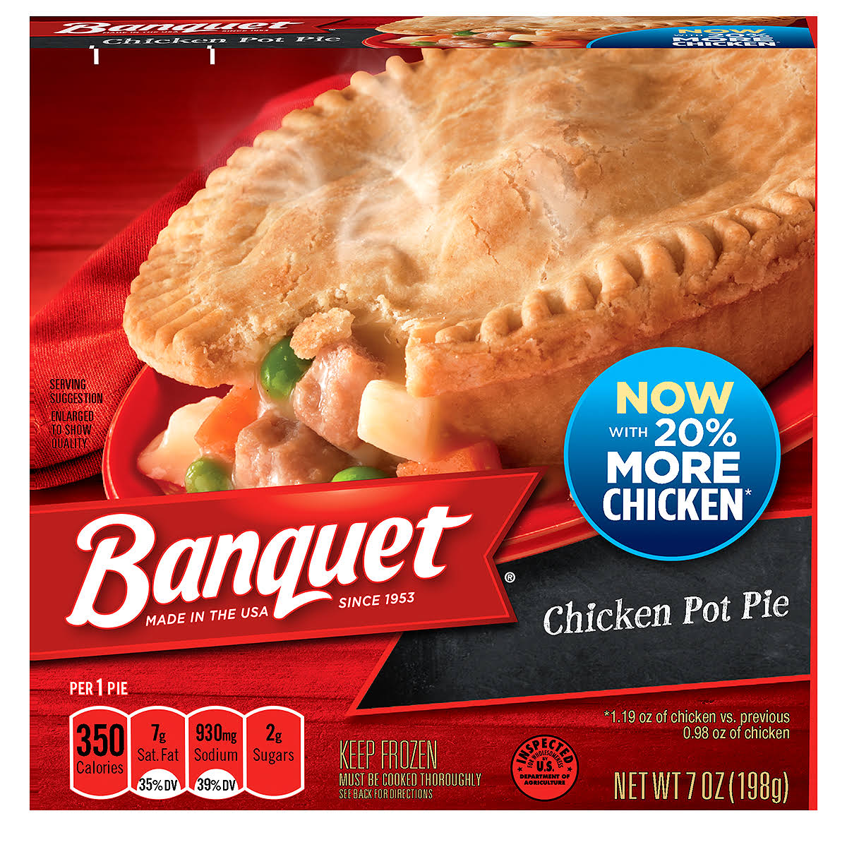 Banquet Chicken Pot Pie - 198g
