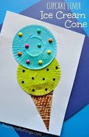 Fun Cupcake Liner Ice Cream Cone Kids Craft Perfect For A Summer Preschool And Crafts