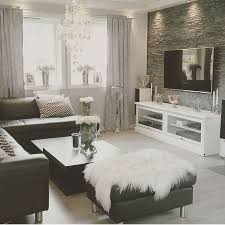 Black And White Living Room With Silver Accents Find More